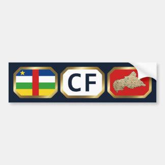 Centrafrique Flag Map Code Bumper Sticker Car Bumper Sticker