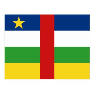 Centrafrique Flag Postcard