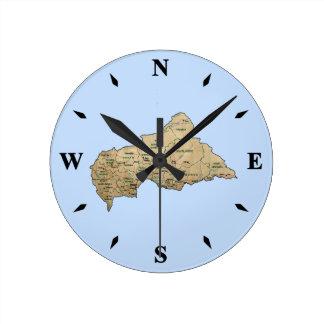 Centrafrique Map Clock