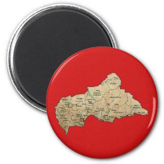 Centrafrique Map Magnet
