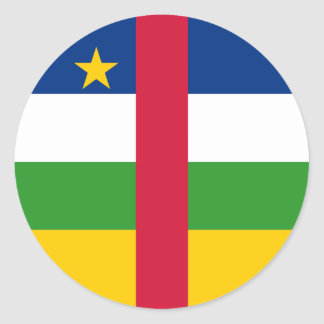 Central Africa/African Republic Flag Classic Round Sticker