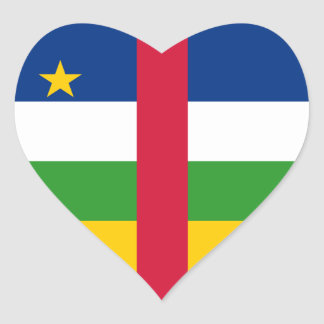 Central Africa/African Republic Flag Heart Sticker