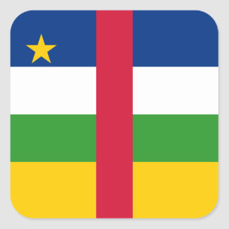 Central Africa/African Republic Flag Square Sticker