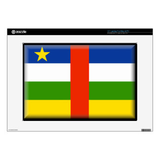 """Central Africa Republic Flag Decals For 15"""" Laptops"""
