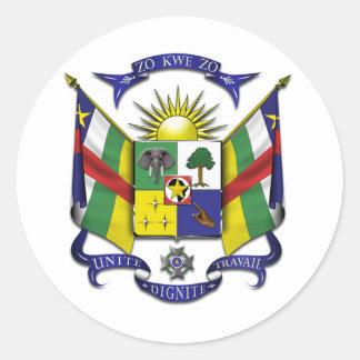 Central African Republic CF Classic Round Sticker
