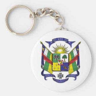 Central African Republic CF Basic Round Button Keychain