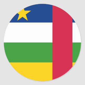 central african republic classic round sticker
