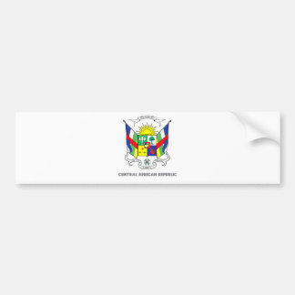 Central African Republic Coat of Arms Bumper Sticker