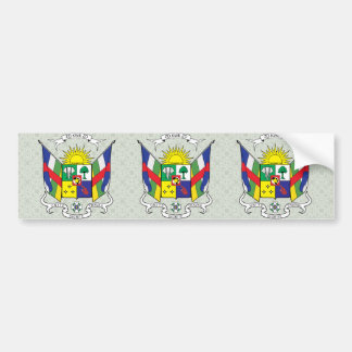 Central African Republic Coat of Arms detail Bumper Sticker