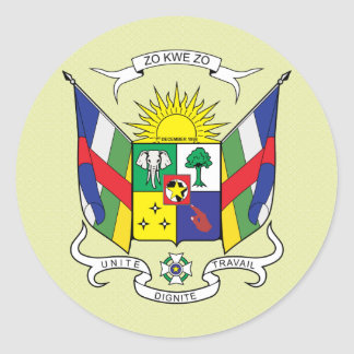 Central African Republic Coat of Arms detail Round Sticker