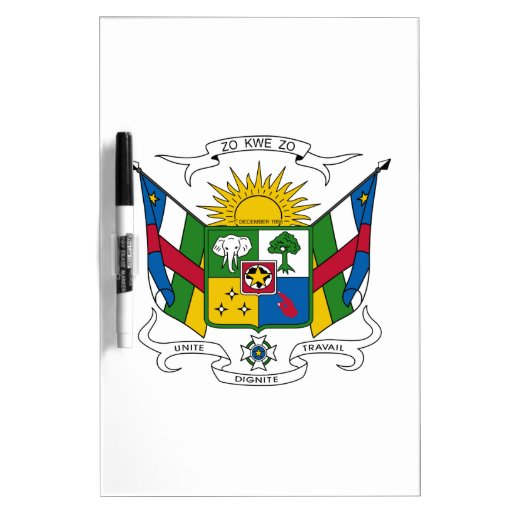 Central African Republic Coat of Arms Dry-Erase Boards
