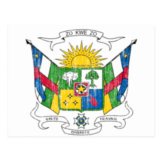 Central African Republic Coat Of Arms Postcard