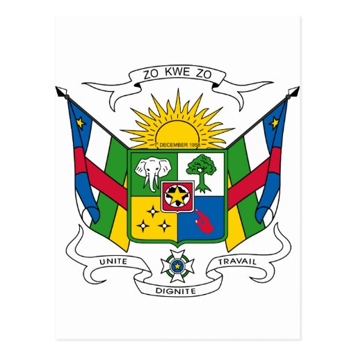 Central African Republic Coat Of Arms Postcards