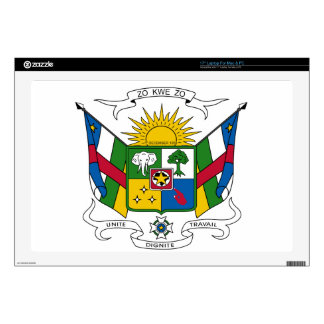 Central African Republic Coat of Arms Skins For Laptops