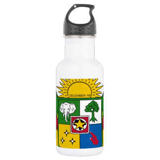 Central African Republic Coat of Arms Water Bottle