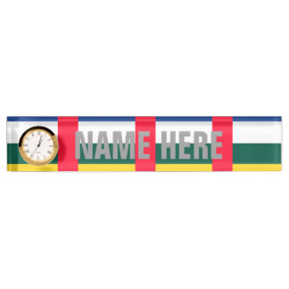 Central African Republic Desk Name Plate