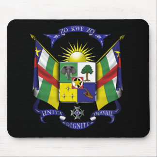 central african republic emblem mouse pad