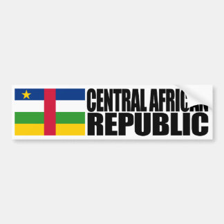 Central African Republic Flag Bumper Sticker