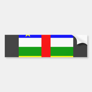 Central African Republic Flag Bumper Stickers