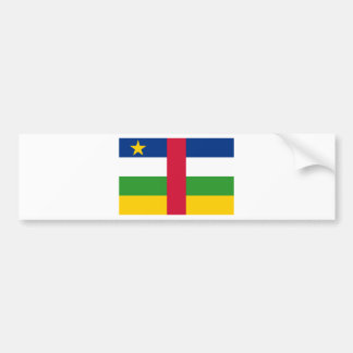 Central African Republic Flag CF Bumper Stickers