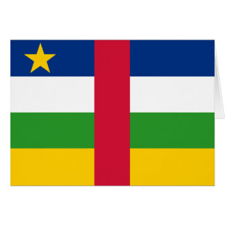 Central African Republic Flag CF Greeting Card