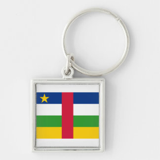 Central African Republic Flag CF Keychain