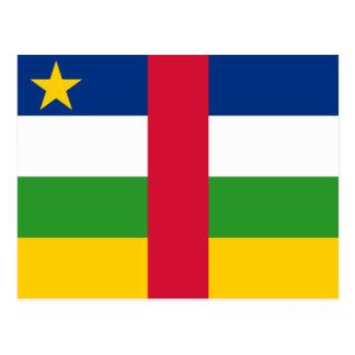 Central African Republic Flag CF Postcard