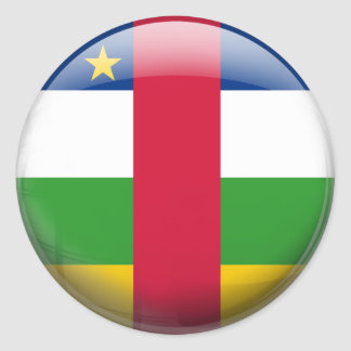 Central African Republic Flag Classic Round Sticker