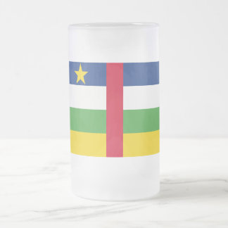 Central African Republic Flag Frosted Glass Beer Mug