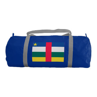 Central African Republic Flag Gym Duffle Bag
