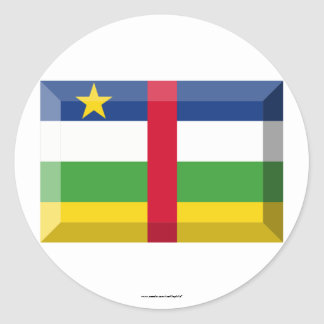 Central African Republic Flag Jewel Classic Round Sticker