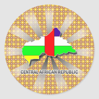 Central African Republic Flag Map 2 0 Stickers