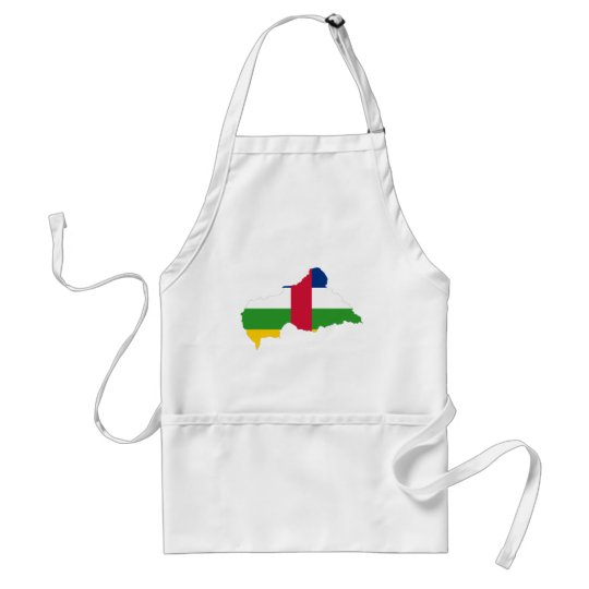 Central African Republic Flag map CF Adult Apron