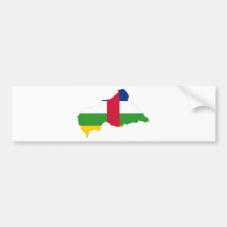 Central African Republic Flag map CF Bumper Stickers