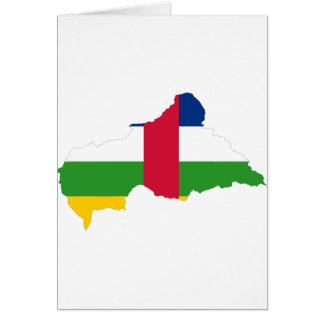 Central African Republic Flag map CF Greeting Card