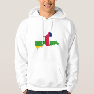 Central African Republic Flag map CF Hoodie