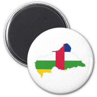 Central African Republic Flag map CF Fridge Magnets