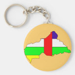 Central African Republic flag map Keychains