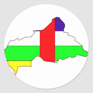 Central African Republic flag map Stickers