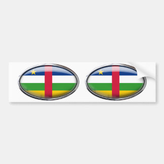 Central African Republic Flag Oval Car Bumper Sticker