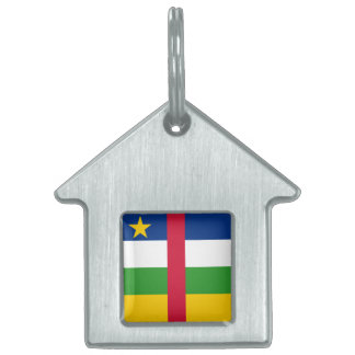 Central African Republic Flag Pet ID Tag