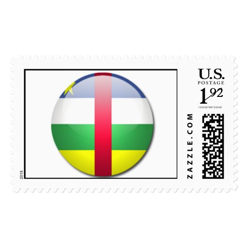 central african republic flag postage