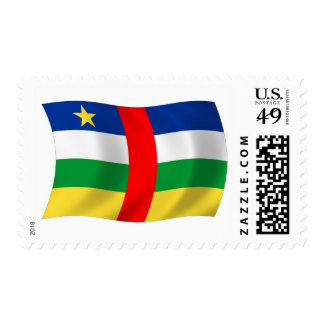 Central African Republic Flag Stamps