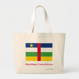 Central African Republic Flag with Name in French Jumbo Tote Bag