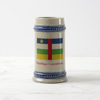 Central African Republic Flag with Name in French Beer Stein