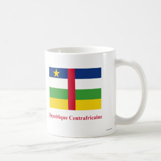 Central African Republic Flag with Name in French Classic White Coffee Mug
