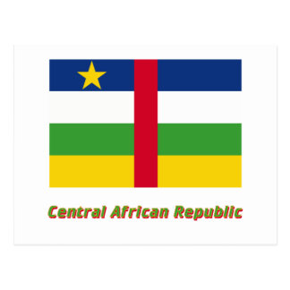 Central African Republic Flag with Name Postcard