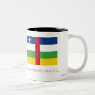 Central African Republic Flag with Name Two-Tone Coffee Mug