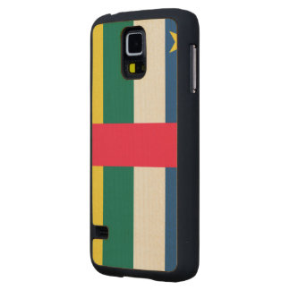 Central African Republic Flag Carved® Maple Galaxy S5 Slim Case