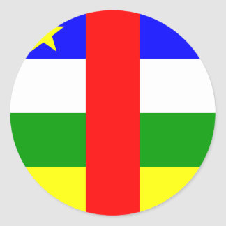 Central African Republic High quality Flag Round Stickers
